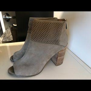 Report heeled open toe booties
